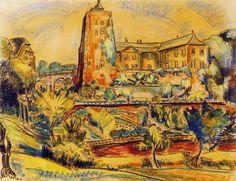Edmond Bellefroid, pastel, Kasteel Opye
