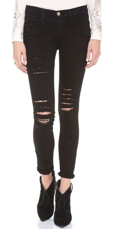Frame Denim ripped black jeans- SO Cool- wishlist