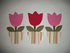 patchwork molde de tulipas - Pesquisa Google