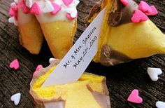 personalize the colors and the fortune for a wedding favor.
