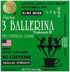 Diet Tea for Men and Women 30 Tea Bags, Three Ballerina - http://teacoffeestore.com/diet-tea-for-men-and-women-30-tea-bags-three-ballerina/