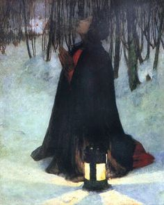 George Hitchcock (1850-1913) «A Dream of Christmas»