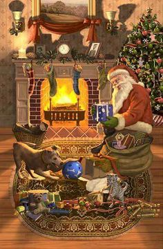 Christmas - the pets are not left out! There's gifts for every family member from Santa