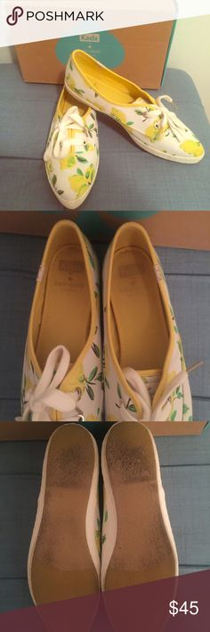 Selling this Kate Spade Lemon Pointe Toe Keds 9.5 on Poshmark! My username is: rachelplehal94. #shopmycloset #poshmark #fashion #shopping #style #forsale #kate spade #Shoes