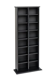 An attractive multi-media storage tower, with central divider, designed to accommodate any combination of media in a modest collection. Fully adjustable shelves can be set to any position to accommodate your collection and ensure full flexibility for future changes. Tops and bases are made of... more details available at https://furniture.bestselleroutlets.com/game-recreation-room-furniture/tv-media-furniture/media-storage/product-review-for-prepac-black-double-media-dvdcdgam