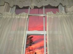 Discover recipes, home ideas, style inspiration and other ideas to try. Im Losing My Mind, Lose My Mind, Sunrise Window, Am I Dreaming, Morning Sunrise, Enfj, Valance Curtains, Windows, Sky