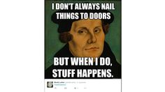 Lapuan lukiolaisten julkaisema Martti Luther -meemi.