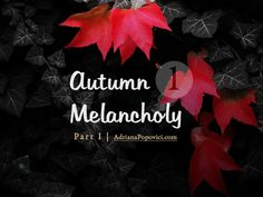 """Autumn Melancholy"" series, part 1 - How my summer turned into autumn melancholy Melancholy, Autumn, Poster, Fall Season, Fall, Billboard"