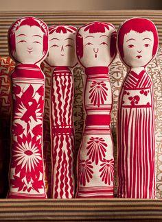 house industries, kokeshi, flour sack doll, prototype