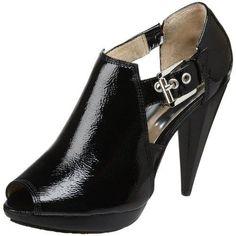 Works as a Bootie, Works as a Sandal too...MICHAEL Michael Kors Women's Greenwich Black/Black Suede Peep-Toe Bootie