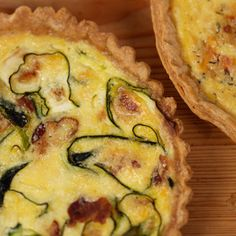 Egg-ceptional Breakfasts: 15 Basic Quiche Recipes - Bacon and Zucchini Quiche #quiche