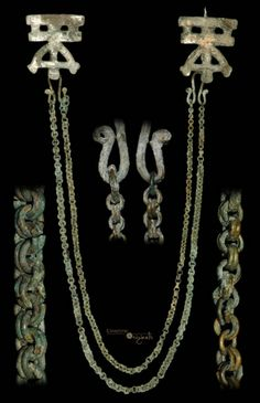 Viking 'Double-Link' Brooch-and-Chains Ensemble