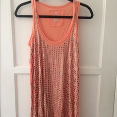 Cino Shine top - peach Darling top in good condition, worn a handful of times. Covered in great studs!!! Cino Tops Tunics