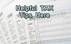 Helpful Tax Tips on our website