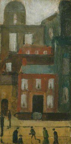 LAURENCE STEPHEN LOWRY  Old Salford Street Scene (1922)
