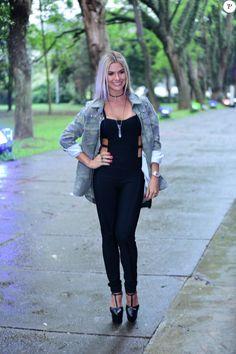 Andressa Suita tem ajuda de Gusttavo Lima na escolha de looks: 'Opina bastante' Brazilian Girls, Military Green, Ideias Fashion, Notebook, Jumpsuit, Fashion Outfits, Clothes, Dresses, Style