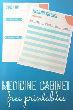 Free medicine tracker printables. Every mom will LOVE these handy FREE printables!