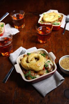 Don't watch Thanksgiving football without this Beer Bratwurst Cheddar Pot Pie!