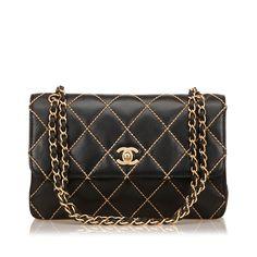 729428e0d746 Catawiki online auction house  Chanel - Lambskin Surpique Wild Stitch Flap  Bag Louis Vuitton