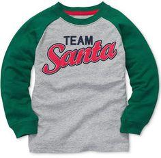 Carter's Kids Shirt, Little Boys Long-Sleeved Team Santa Tee on shopstyle.co.uk