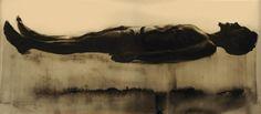 """""""Baptism"""" byAbdi Farah (charcoal and earth)"""