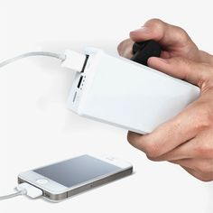Wind-Up iPhone Battery Charger by Soulra | MONOQI