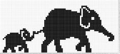 Diy Crafts - Elephant Mum & Baby Olifant en olifantje, patroon om te borduren of te breien. Filet Crochet, Crochet Chart, Crochet Baby, Crochet Ideas, Elephant Cross Stitch, Crochet Elephant, Cross Stitch Animals, Knitting Charts, Baby Knitting Patterns