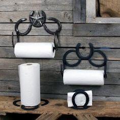 Horseshoe paper towel holders