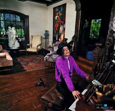 Michael Jackson inside his Neverland Valley Ranch - 5225 Figueroa Mountain Road, Los Olivos, CA