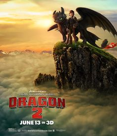 How to Train Your Dragon 2 Poster by UncharteDesigns on Etsy, £8.99