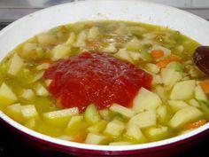 Estofado de patatas con verduras