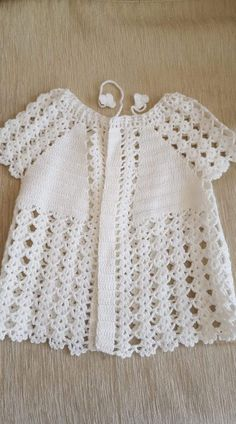 free knitting pattern for baby girl bolero How to crochet a beautiful tiny dress. This Pin was discovered by Sem Repeat After me Crochet: DIY Sweet Crochet Baby Summer Bootie by Nina Maltese Crochet Baby Jacket, Crochet Vest Pattern, Baby Knitting Patterns, Baby Patterns, Hand Knitting, Crochet Patterns, Knitting Machine, Baby Girl Crochet, Crochet Baby Clothes
