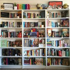 Happy Shelfie Sunday! I haven't posted an unobscured Shelfie in a while. I know I will eventually need a fourth shelf, but 3 shelves just fit so nicely in the Instagram square.  #fightevilreadbooks #bookstagram #books #book #bookworm #instabook #booklover #booknerd #bookshelf #bookporn #ilovebooks #bookaholic #bookaddict #booklove #shelfie #bookish #bookart #igreads #bookmerch #shelfiesunday #ikea #bookshelves #bookcase #bookmark