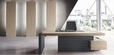 Jera executive desk by Las Mobili – Office İnterior Office Desks Uk, Modern Office Desk, Office Table, Ceo Office, Modern Executive Desk, Executive Office Furniture, Executive Room, Italian Furniture, Office Interiors