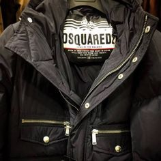 Dsquared2, Leather Jacket, Warm, Winter, Jackets, Fashion, Studded Leather Jacket, Down Jackets, Moda