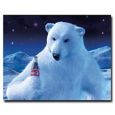 "Coca-Cola ""Polar Bear with Coke Bottle"" Canvas Art at HSN.com."