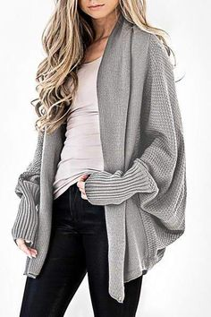 A stunning and ultra cozy Cardigan in a beautiful Dark Sage hue! Our Colbie Dolman Cardigan goes with everything fall in this open neckline wear that features a honeycomb weave throughout. Sport this over your graphic tees or Beso Tops! Cardigan Casual, Slouchy Cardigan, Cardigan Outfits, Casual Sweaters, Fall Fashion Outfits, Look Fashion, Spring Outfits, Autumn Fashion, Womens Fashion