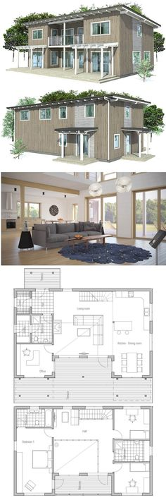 House Plan Architecture Pinterest Modern house plans - plan de maison design
