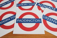 London Underground table markers