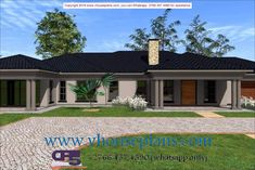 4 Bedroom House Plans, Family House Plans, Flat Roof House, Facade House, Single Storey House Plans, Tuscan House Plans, Double Story House, Beautiful House Plans, Free House Plans