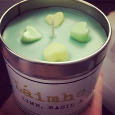 Lime basil clementine   Pretty shades and little hearts make this a great gift! Available from out etsy shop at £8.50  All handmade on the banks or Loch Lomond   ❤️❤️❤️