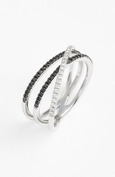 Bony Levy Three-Row Crossover Ring (Limited Edition) (Nordstrom Exclusive) available at #Nordstrom