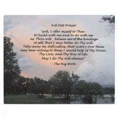 7 step prayer aa | 3rd step prayer plaque from the big book of alcoholics anonymous makes ...