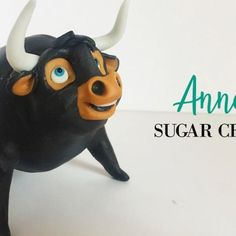 Ferdinand the bull  sugar paste tutorial coming up tomorrow so stay close!  #annatsugarcreations #sugarpaste #sugarfigures #sugartopper…