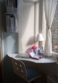 Compact Workspace In Small Bedroom Design Idea Small Home Office . Small Home Office In Bedroom Modern Small Bedroom Design Ideas w. Corner Office, Office Nook, Room Corner, Corner Desk, Small Corner, Small Office, Corner Space, Study Corner, Corner Vanity