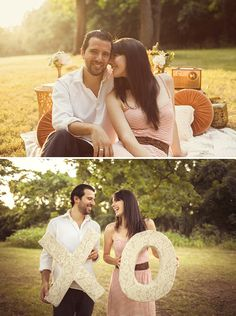 Nashville Vintage Picnic Engagement Shoot // Styling + Rentals by Stockroom Vintage // Photos by Stef Atkinson // Flowers by Brocade Designs
