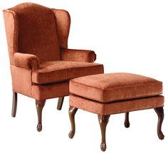Beautiful Furniture Factory Warehouse   Barrington, NJ Tan U0026 Cherry Button Tufted  Wing Chair W/ Ottoman | French Country | Pinterest | Warehouse, Ottomans  And Living ...