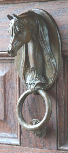 Wonderful brass horse door knocker