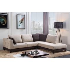 Abbyson 'Verona' Fabric Sectional Sofa