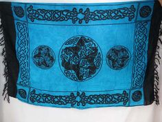 blue interlaced knotwork Celtic triple horse wrap sarong pareo sexy bikini coverup $5.25 - http://www.wholesalesarong.com/blog/blue-interlaced-knotwork-celtic-triple-horse-wrap-sarong-pareo-sexy-bikini-coverup-5-25/